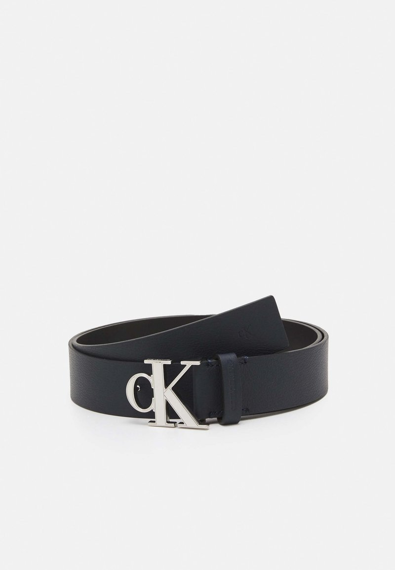 Calvin Klein Jeans - MONO PLAQUE BELT - Belt - blue