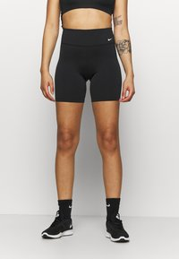 Nike Performance - ONE SHORT - Tights - black/white - 0