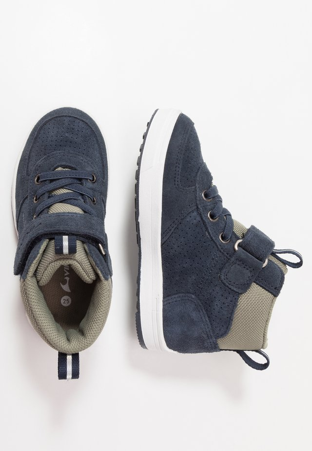 SAMUEL MID WP - Hiking shoes - navy/olive