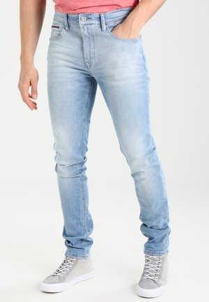 SLIM TAPERED STEVE BELB - Jeansy Slim Fit - berry light blue