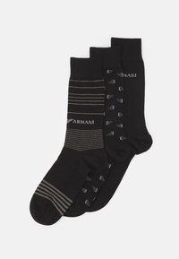 Emporio Armani - SHORT SOCKS 3 PACK - Socks - nero - 0