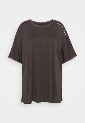 EXHALEBOYFRIEND TEE  - T-shirt imprimé - after dark