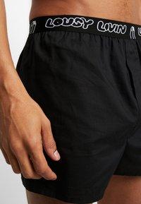 Lousy Livin Underwear - BRIEFS 2 PACK - Trenýrky - black/white - 4