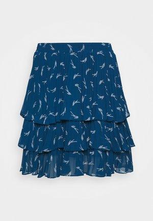TIERED SIG LOGO - Mini skirt - river blue