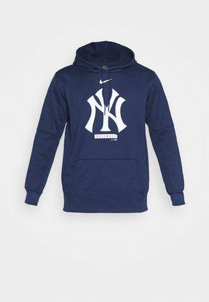 MLB NEW YORK YANKEES LOGO THERMA PERFORMANCE HOODI - Club wear - midnight navy