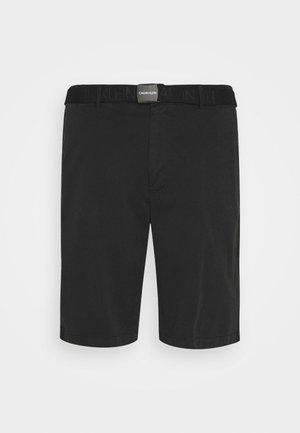 GARMENT DYE BELTED - Shorts - black