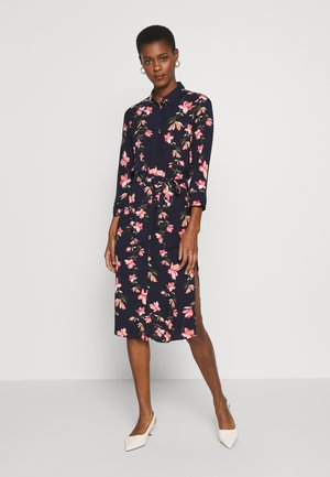 ONLNOVA LONG SHIRT DRESS - Skjortekjole - night sky/magnolia