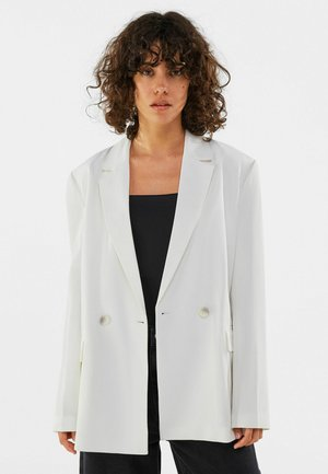MIT KNÖPFEN  - Short coat - white