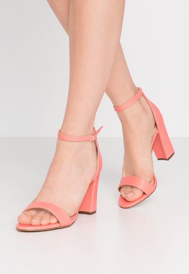 BEELLA - High heeled sandals - coral