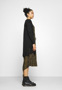Even&Odd - BASIC- long cardigan - Cardigan - black - 3