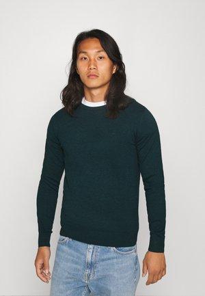 BASIC CREW NECK - Sweter - sapphire green melange