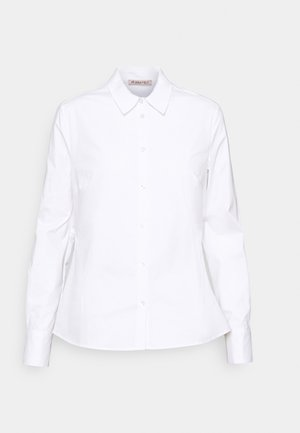 Slim fit business blouse - Button-down blouse - white
