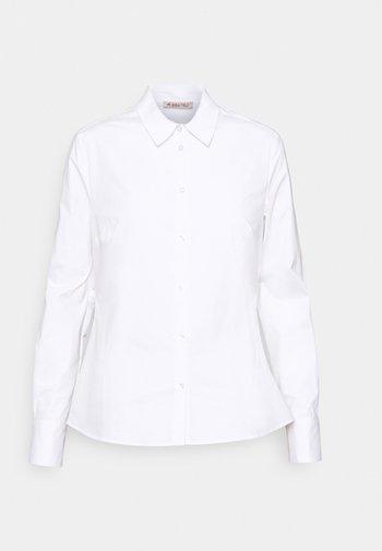 Slim fit business blouse - Button-down blouse - white