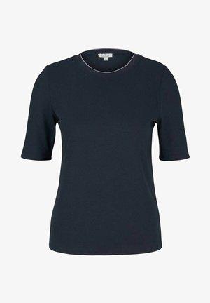 MIT RIPPBÜNDCHEN - T-shirts basic - sky captain blue