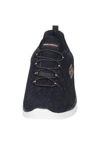 Skechers Sport - DAMEN SLIPPER - Zapatillas - black - 4