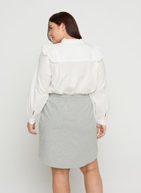 Zizzi - Mini skirt - light grey melange - 2