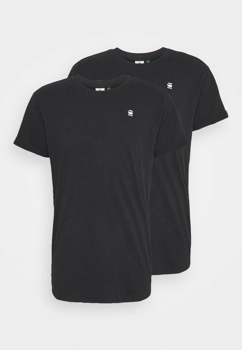 G-Star - LASH 2 PACK - T-shirt basic - black