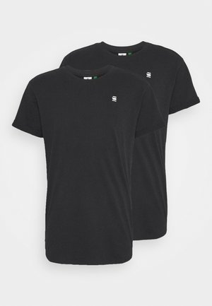 LASH 2 PACK - Basic T-shirt - black