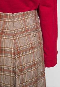 Rika - FLOW SKIRT - A-line skirt - brown/red - 4