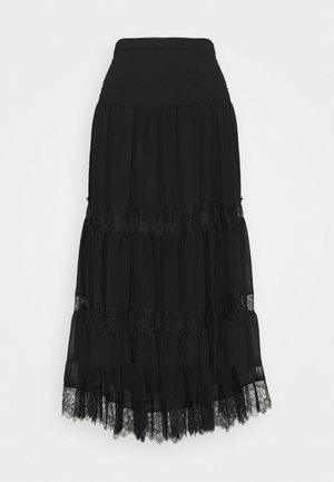 SOLID SKIRT - A-line skirt - black