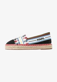 KARL LAGERFELD - KAMINI PATCHWORK SLIP - Espadrilles - black/multicolor - 1