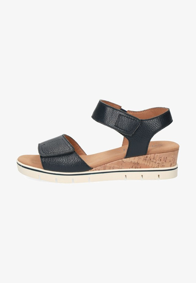 Sandalen met sleehak - ocean nappa