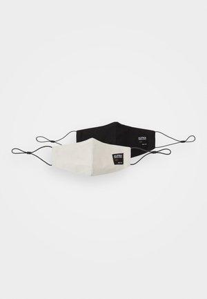 LABEL RIPSTOP FACE MASK UNISEX 2 PACK - Látková maska - offwhite/black