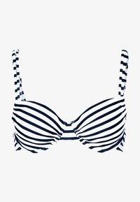 Venice Beach - WIRE TOP - Top de bikini - white/navy - 3