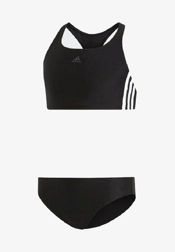 FIT 3 STRIPES PRIMEBLUE SWIM BIKINI SET - Bikini - black