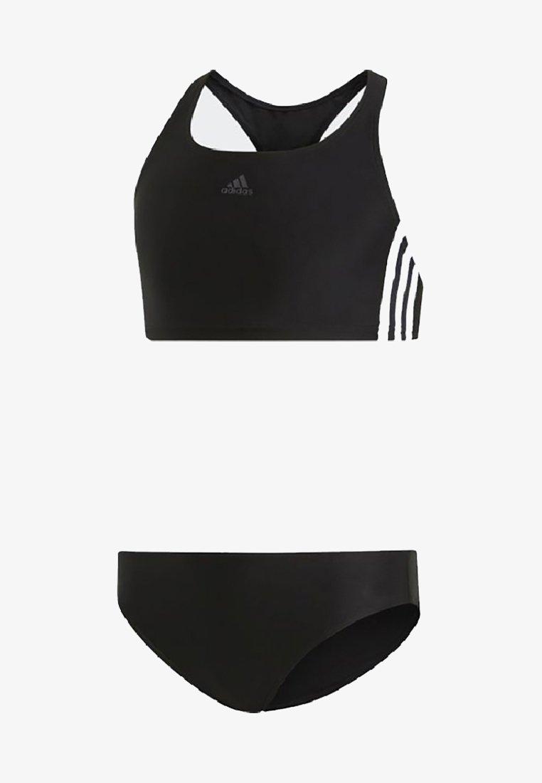 adidas Performance - FIT 3 STRIPES PRIMEBLUE SWIM BIKINI SET - Bikinier - black
