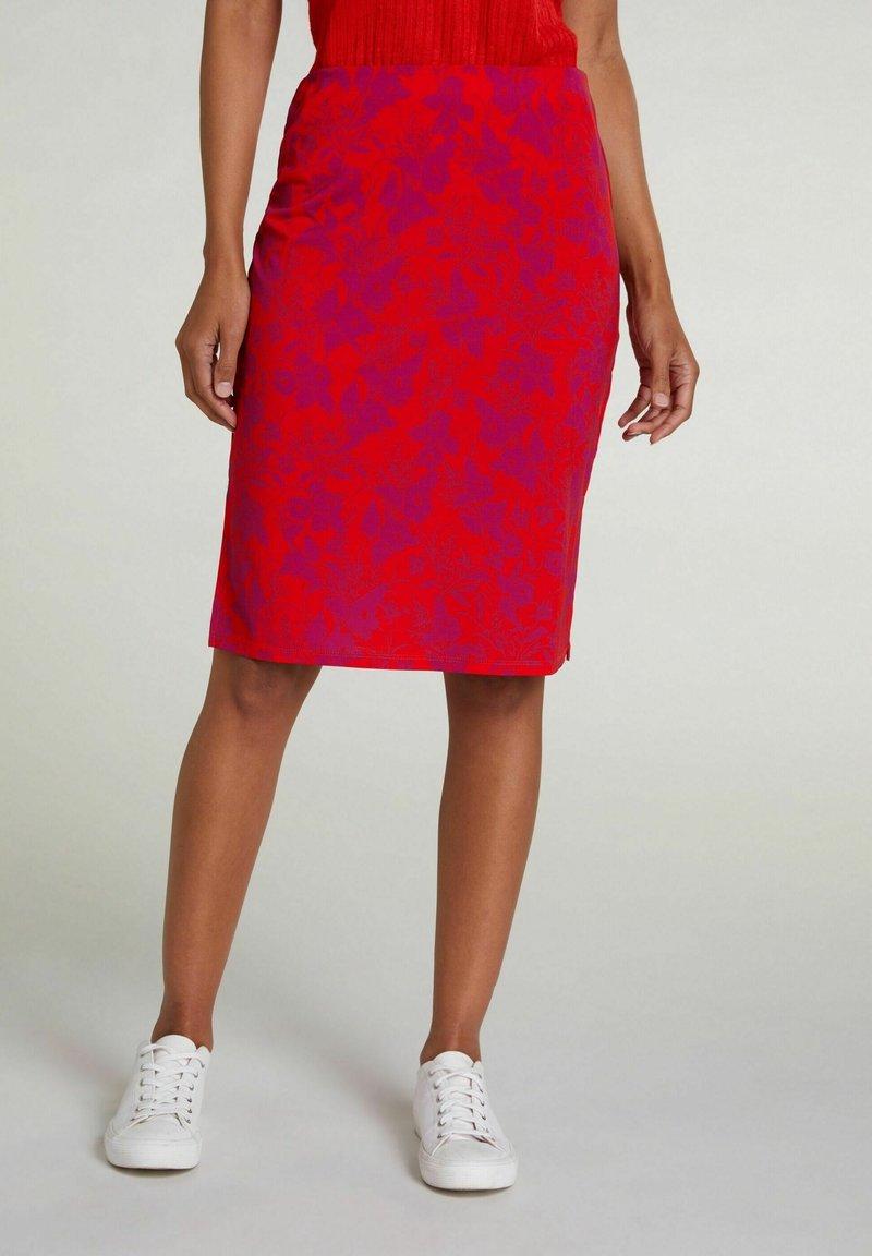 Oui - Pencil skirt - red violett