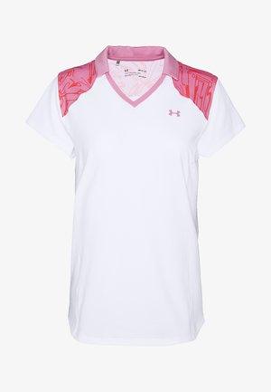 ZINGER BLOCKED - Print T-shirt - white/lipstick