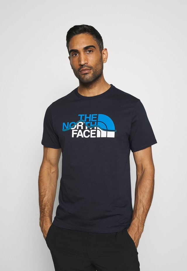 MOUNTAIN LINE TEE - Print T-shirt - aviator navy