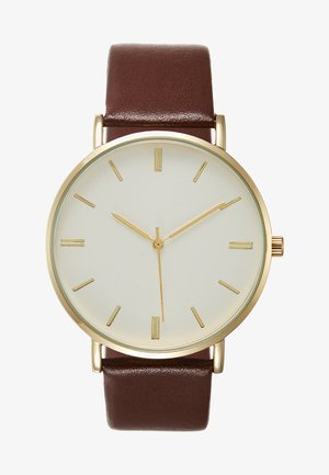 Watch - cognac/gold-coloured
