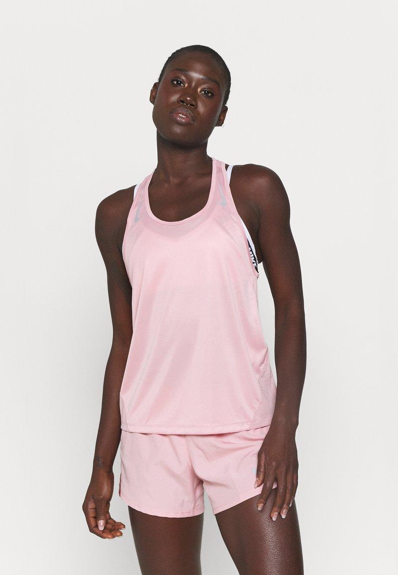 Nike Performance - MILER TANK RACER - Funktionsshirt - pink glaze/silver