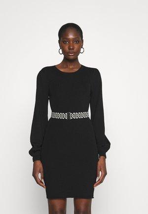 PLUM DRESS - Jumper dress - black