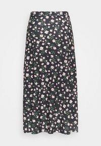 Anna Field - Maxi skirt - black/pink/red - 1