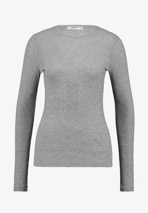 MONA - Long sleeved top - mottled light grey