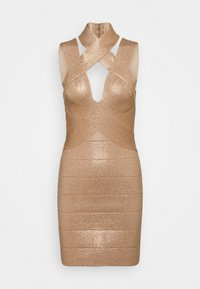 Hervé Léger - BANDAGE MINI DRESS - Cocktail dress / Party dress - rose gold - 4
