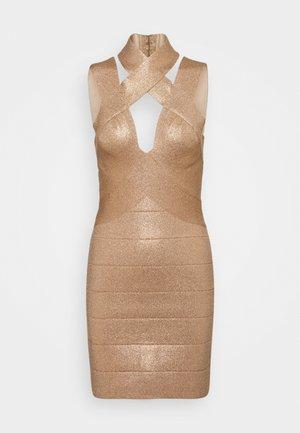 BANDAGE MINI DRESS - Sukienka koktajlowa - rose gold