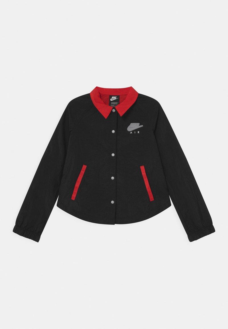 Nike Sportswear - AIR COACH  - Light jacket - black/university red/white