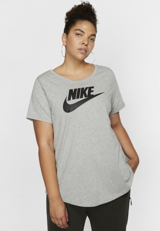 Nike Sportswear - FUTURA PLUS - Print T-shirt - dark grey heather/black