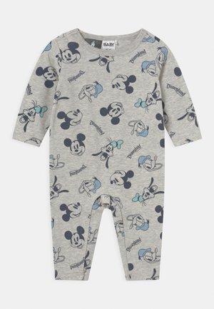 THE LONG SLEEVE SNAP ROMPER - Pyjama - mottled grey