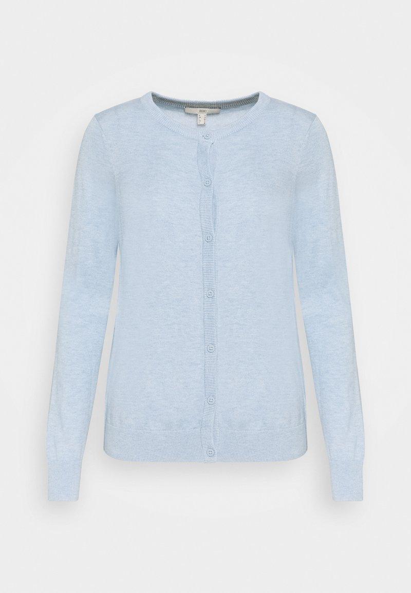 edc by Esprit - CORE ROUND NECK CARDIGAN - Kardigan - light blue lavender