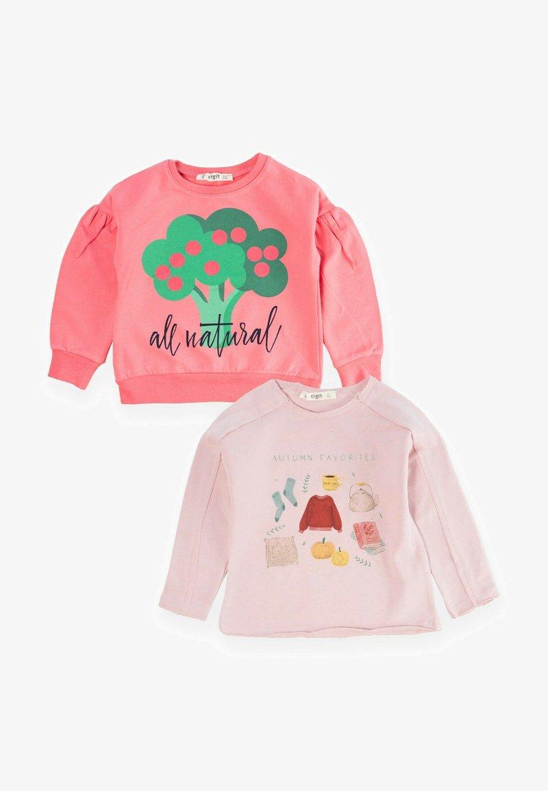 Cigit - 2PACK - Sweatshirt - light pink