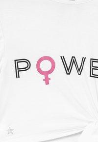 South Beach - GIRLS POWER KNOT  - T-shirt z nadrukiem - white - 3