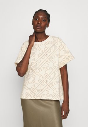 TOPAZ TEE - Print T-shirt - natural