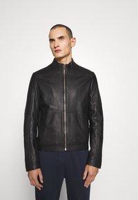 HUGO - LOKIS - Leather jacket - black - 0