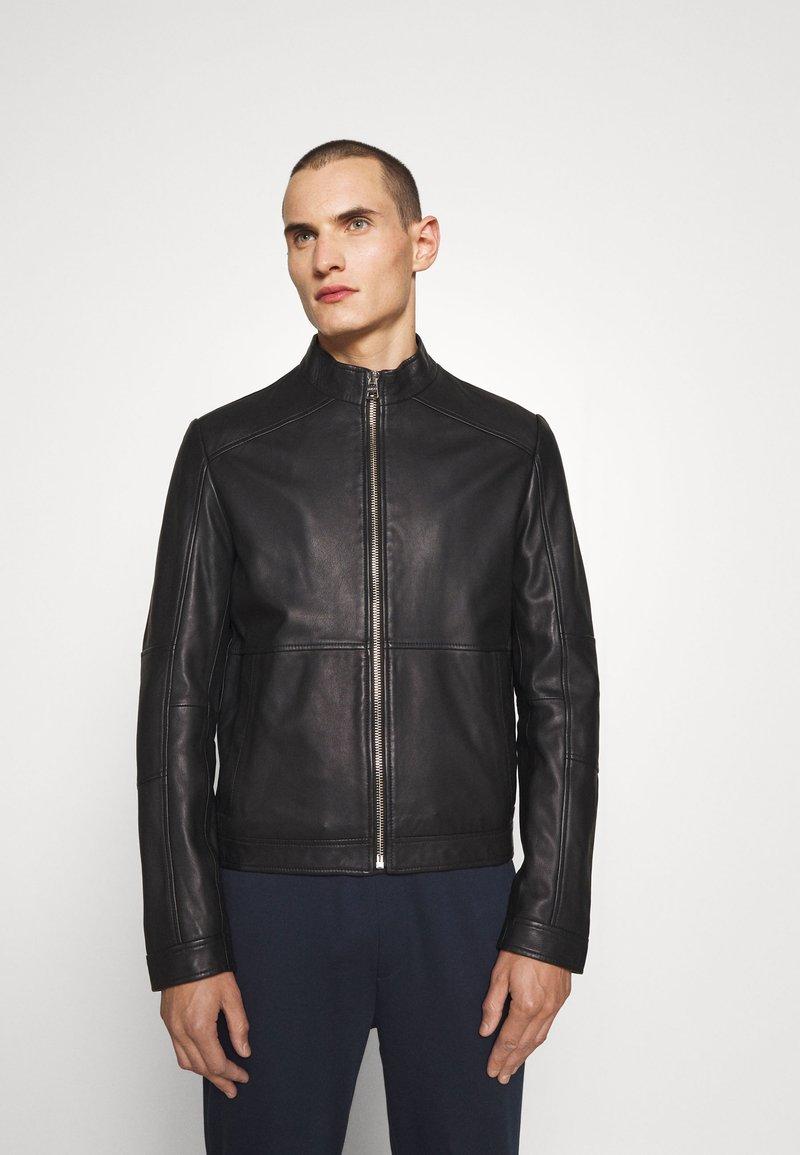 HUGO - LOKIS - Leather jacket - black
