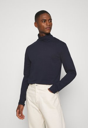 TURTLE NECK TEE - Long sleeved top - blue